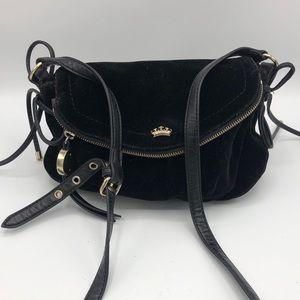 Juicy Couture Black Velvet Crossbody Bag Purse